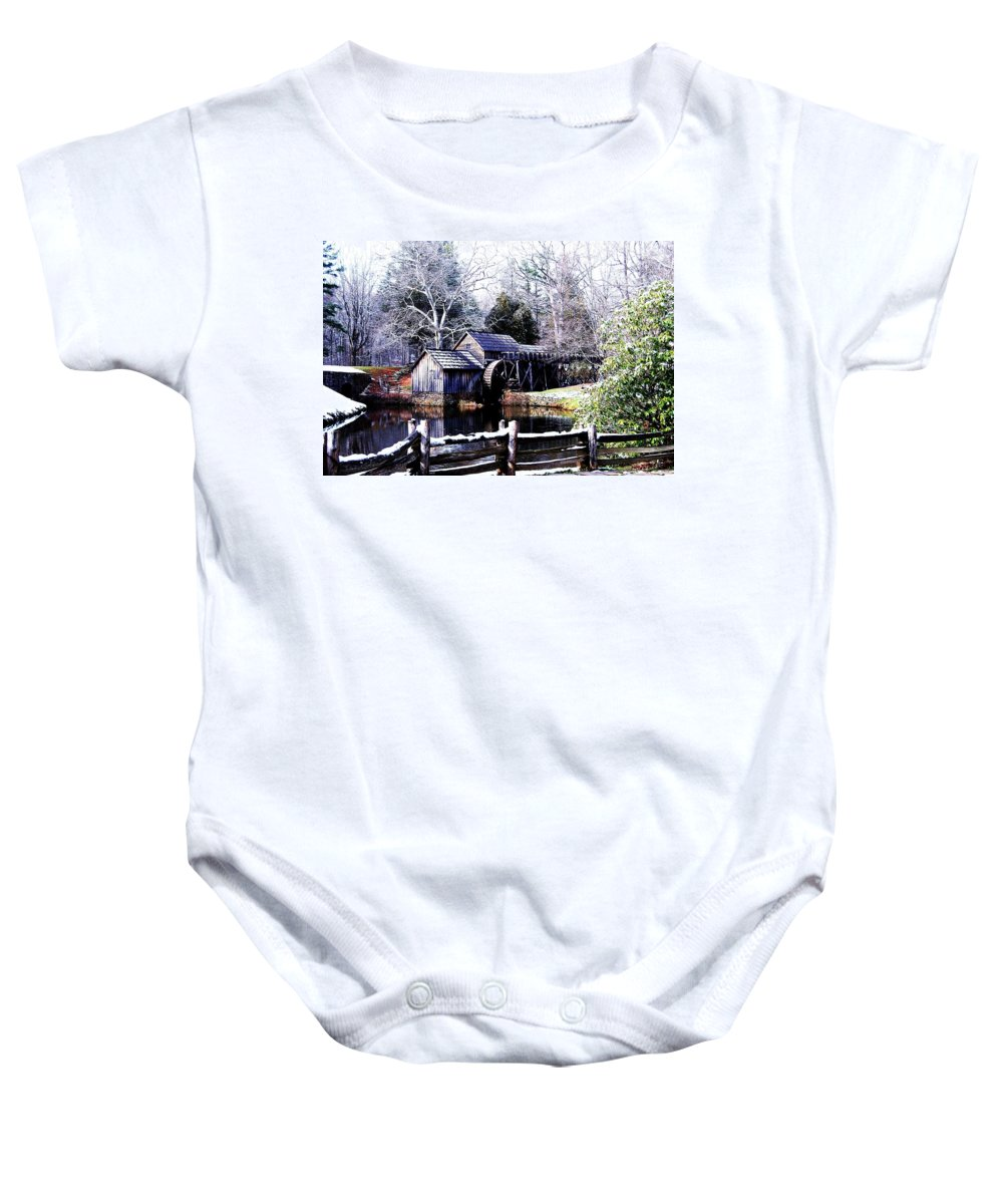 Mill Baby Onesie featuring the photograph Digital Mill by Eric Liller
