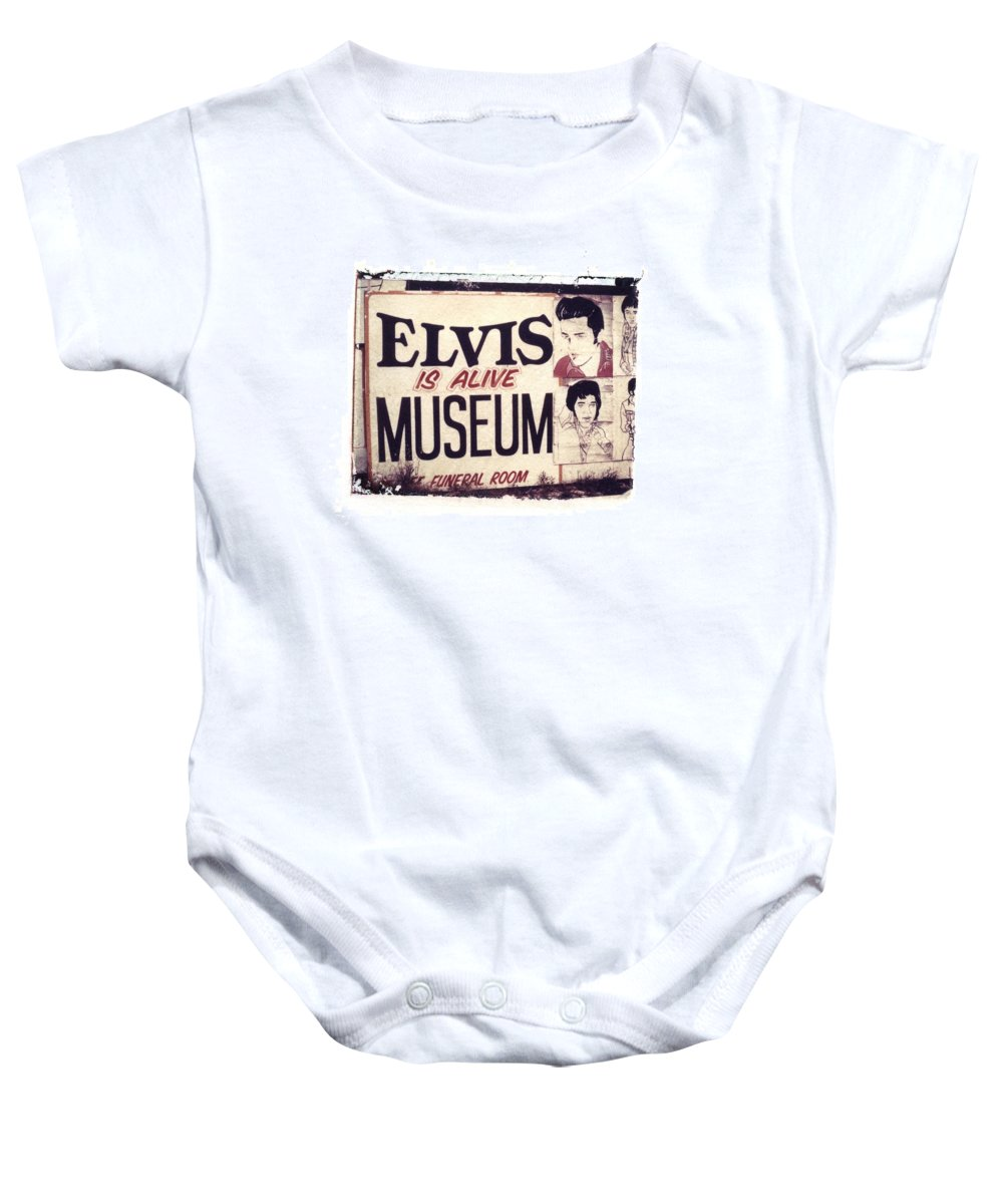 Polaroid Transfer Baby Onesie featuring the photograph Disgraceland No. 2 by Jane Linders