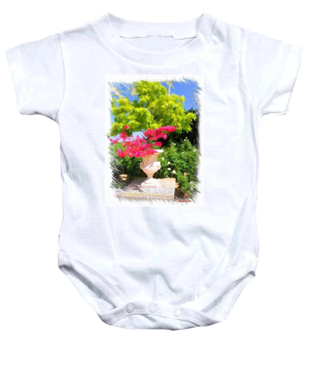 Roman Baby Onesie featuring the photograph Do-00059 Roman Vase by Digital Oil
