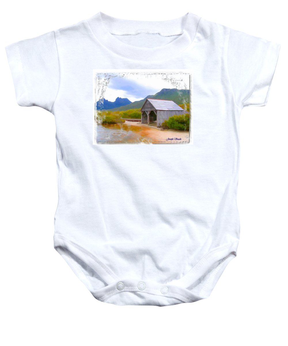 Boat House Baby Onesie featuring the photograph Do-00107 Boat House by Digital Oil