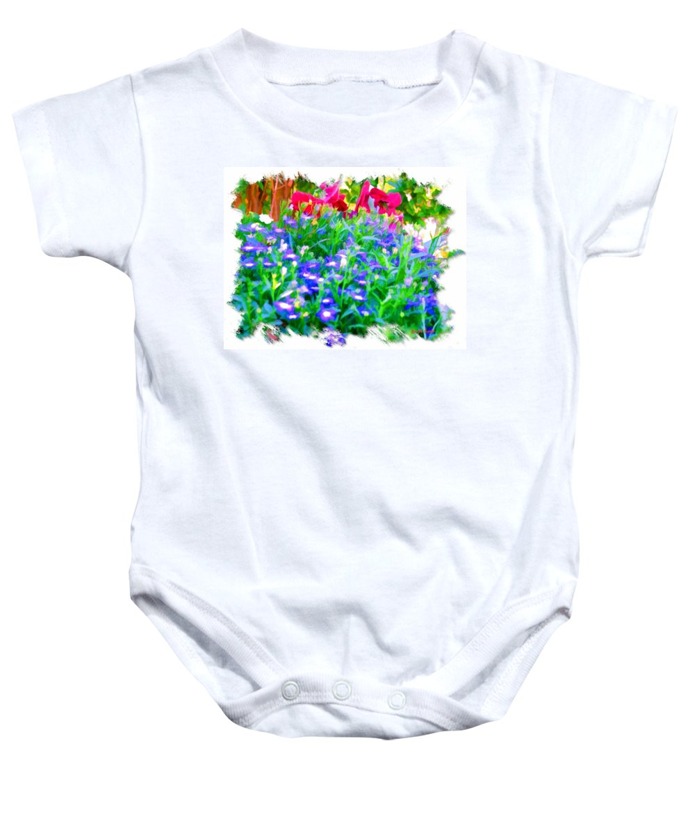 Flowers Baby Onesie featuring the photograph Do-00221 Flowers by Digital Oil