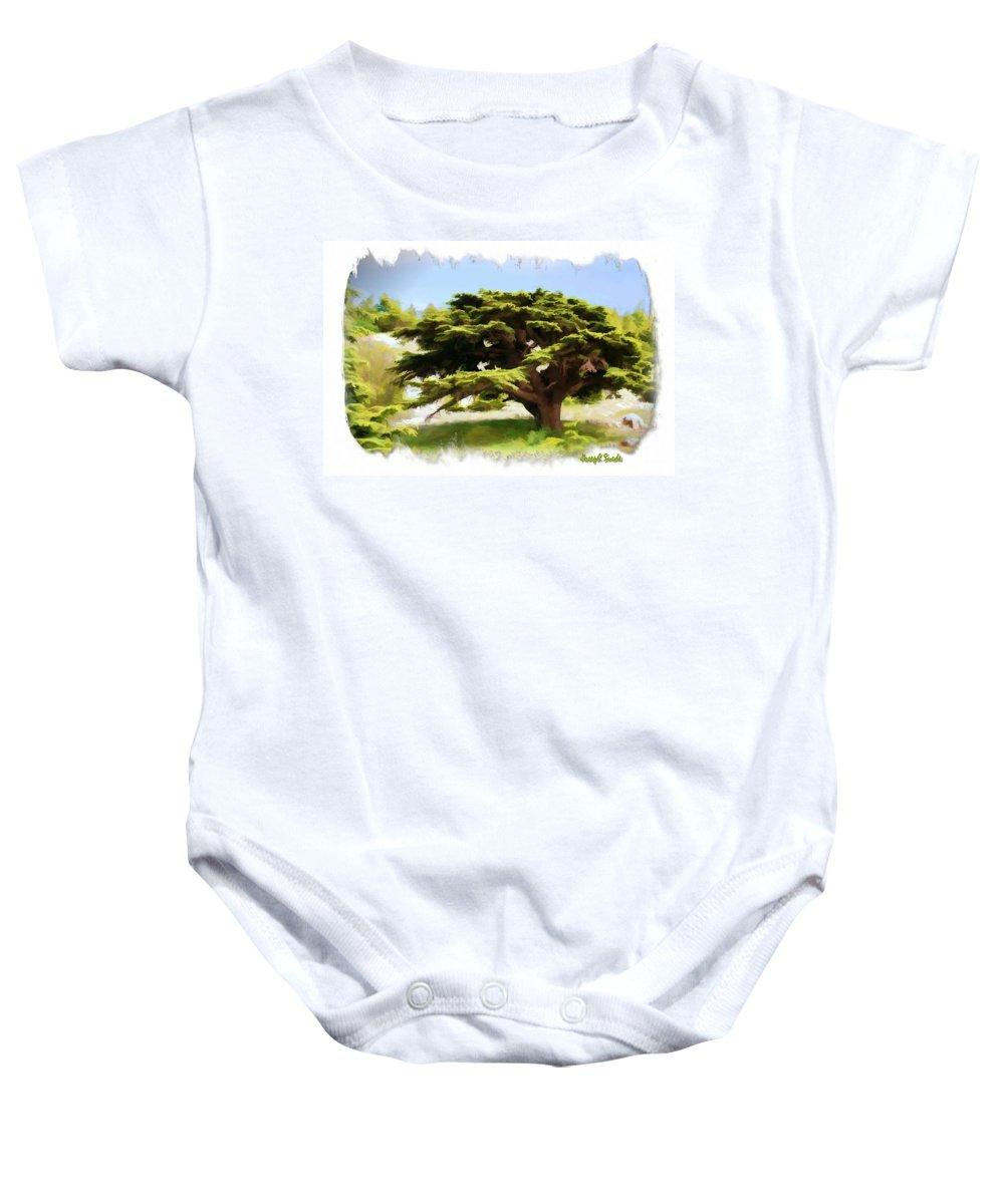 Cedar Tree Baby Onesie featuring the photograph Do-00319 Cedar Tree by Digital Oil