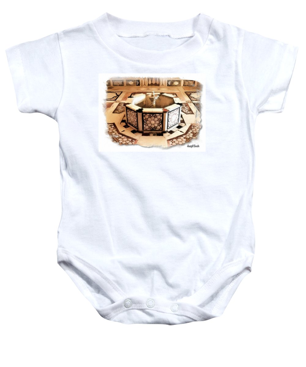 Decorative Baby Onesie featuring the photograph Do-00323 Old Bath Fountain by Digital Oil