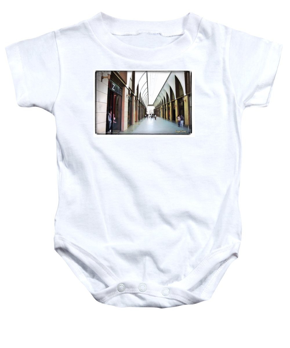 New Market Baby Onesie featuring the photograph Do-00355 New Market In Downtown by Digital Oil