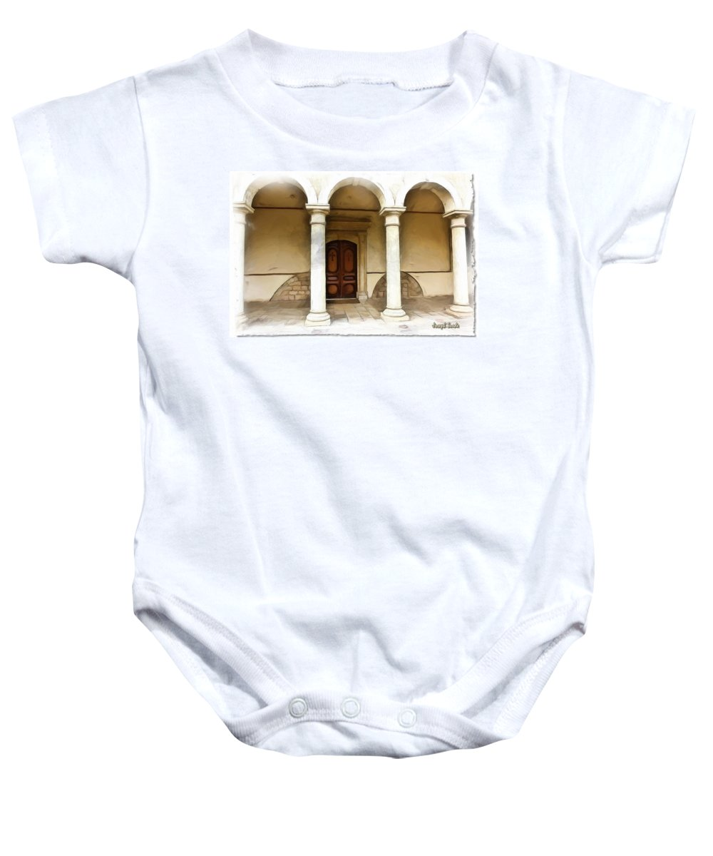 St George Baby Onesie featuring the photograph Do-00360 St George Orthodox Church by Digital Oil