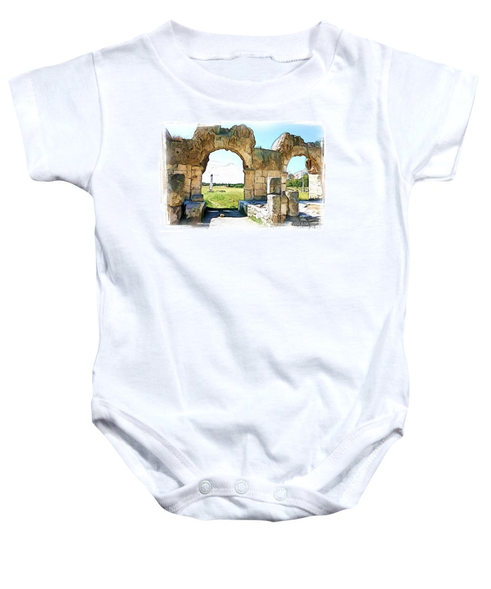 Ancient Baby Onesie featuring the photograph Do-00409 View On Arena In Tyr by Digital Oil