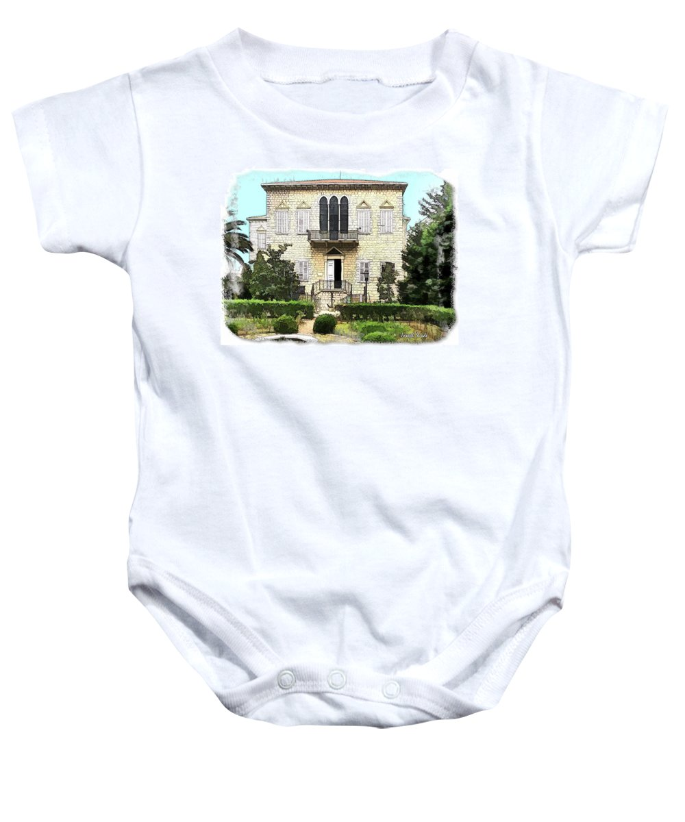 Yazbeck Palace Baby Onesie featuring the photograph Do-00461 Yazbeck Palace by Digital Oil