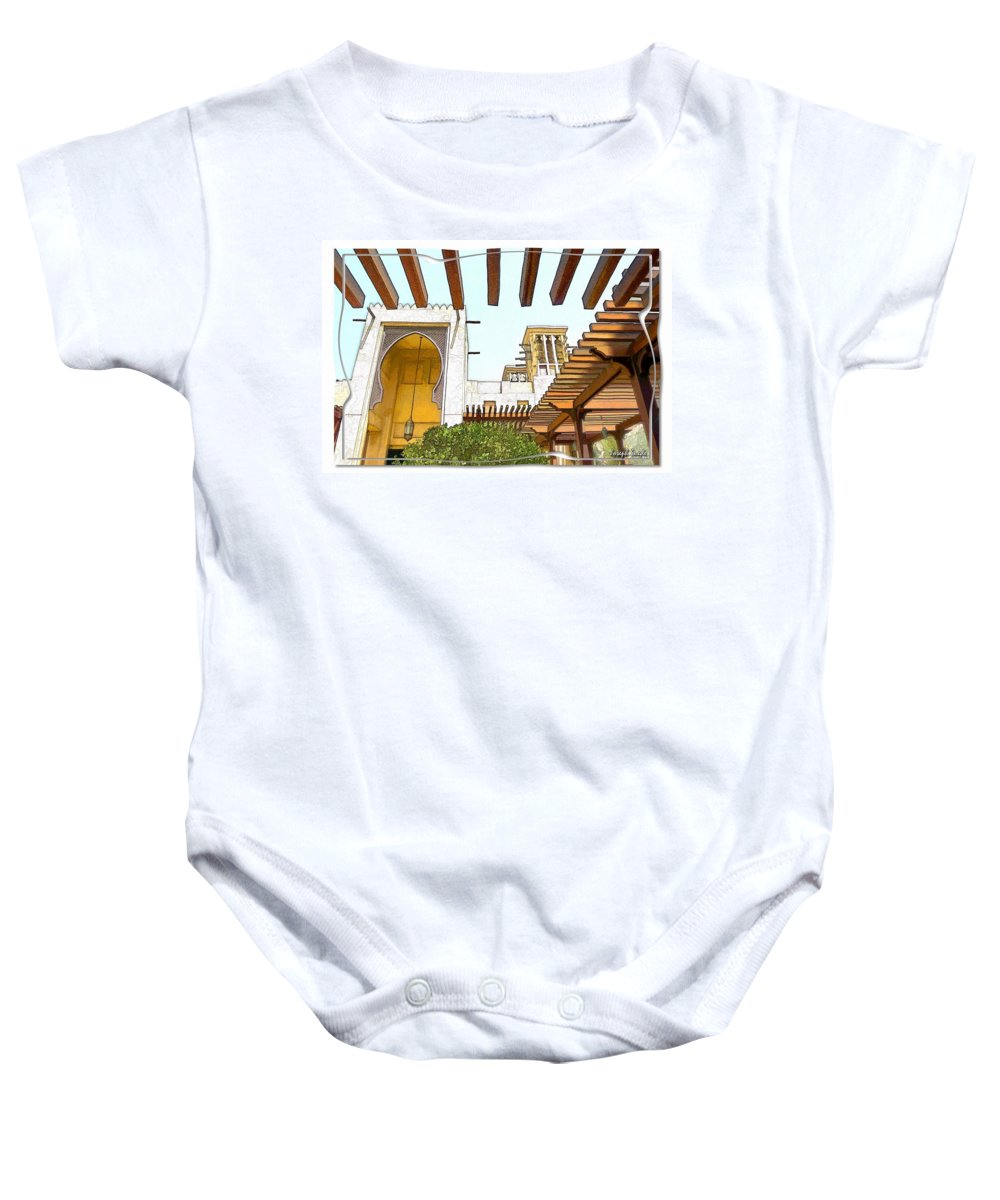 Souk Baby Onesie featuring the photograph Do-00468 Souk Madinat Jumeirah by Digital Oil