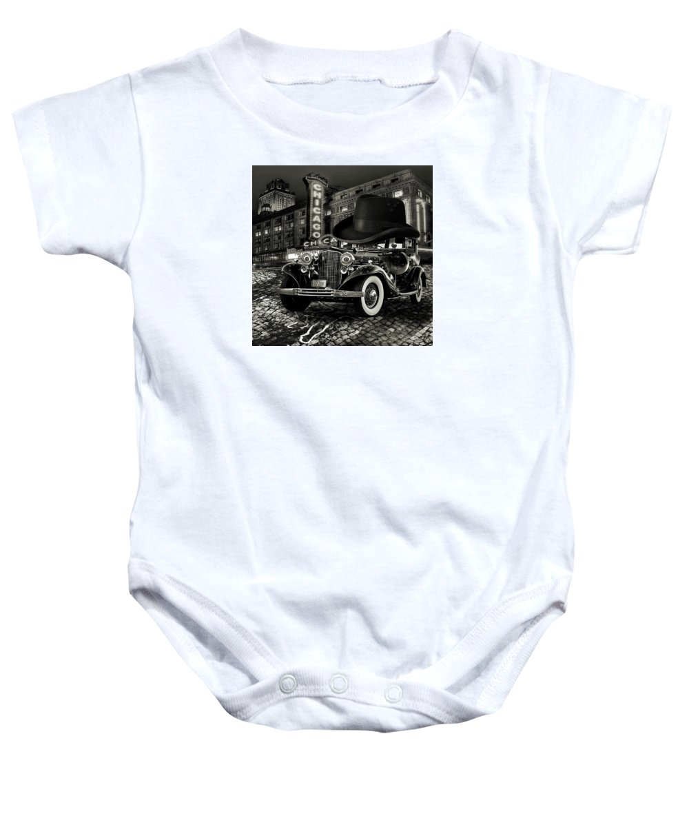 American Baby Onesie featuring the digital art Don Cadillacchio Black And White by Marian Voicu