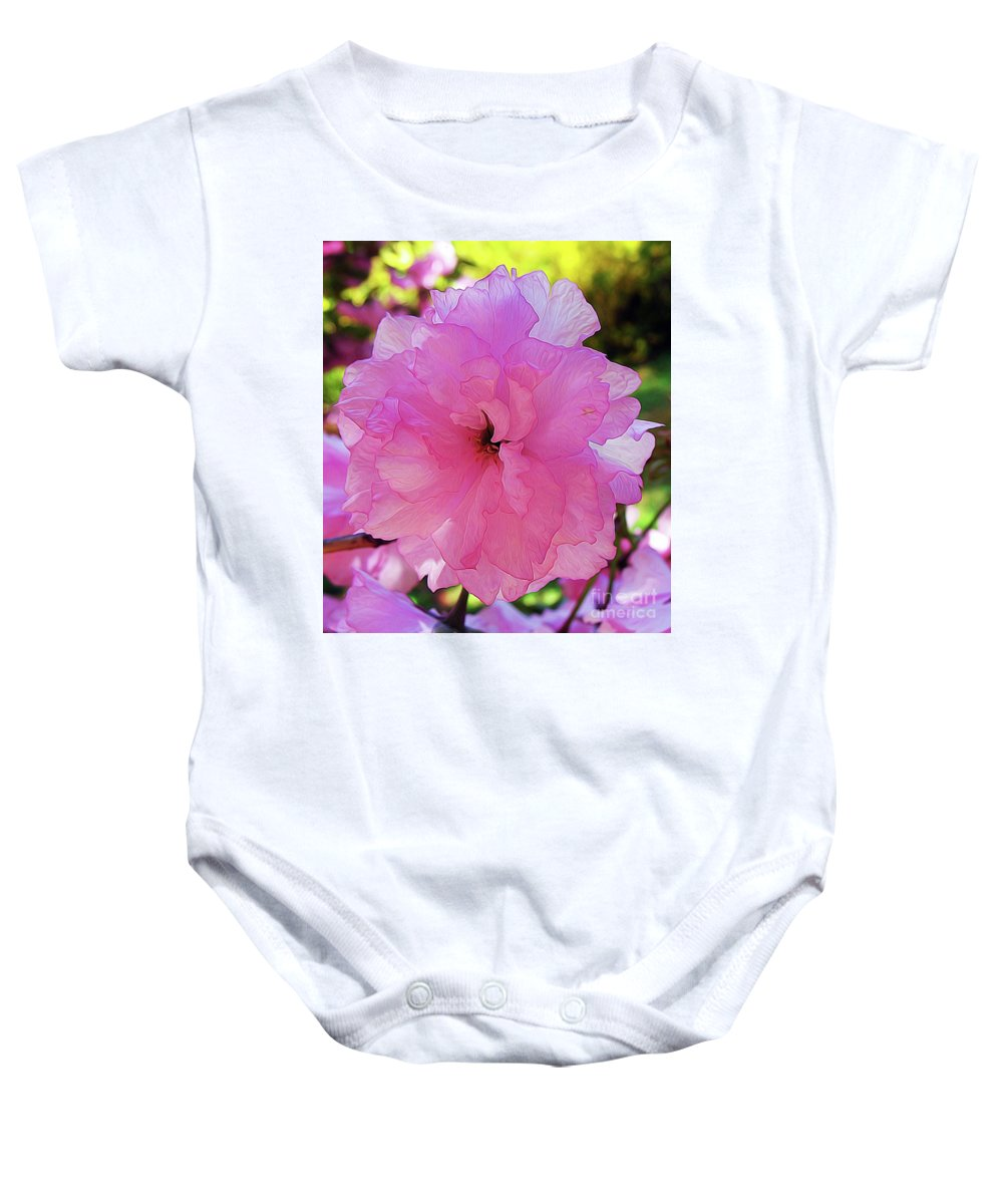 Double Bloom Baby Onesie featuring the photograph Double Bloom by Patti Whitten