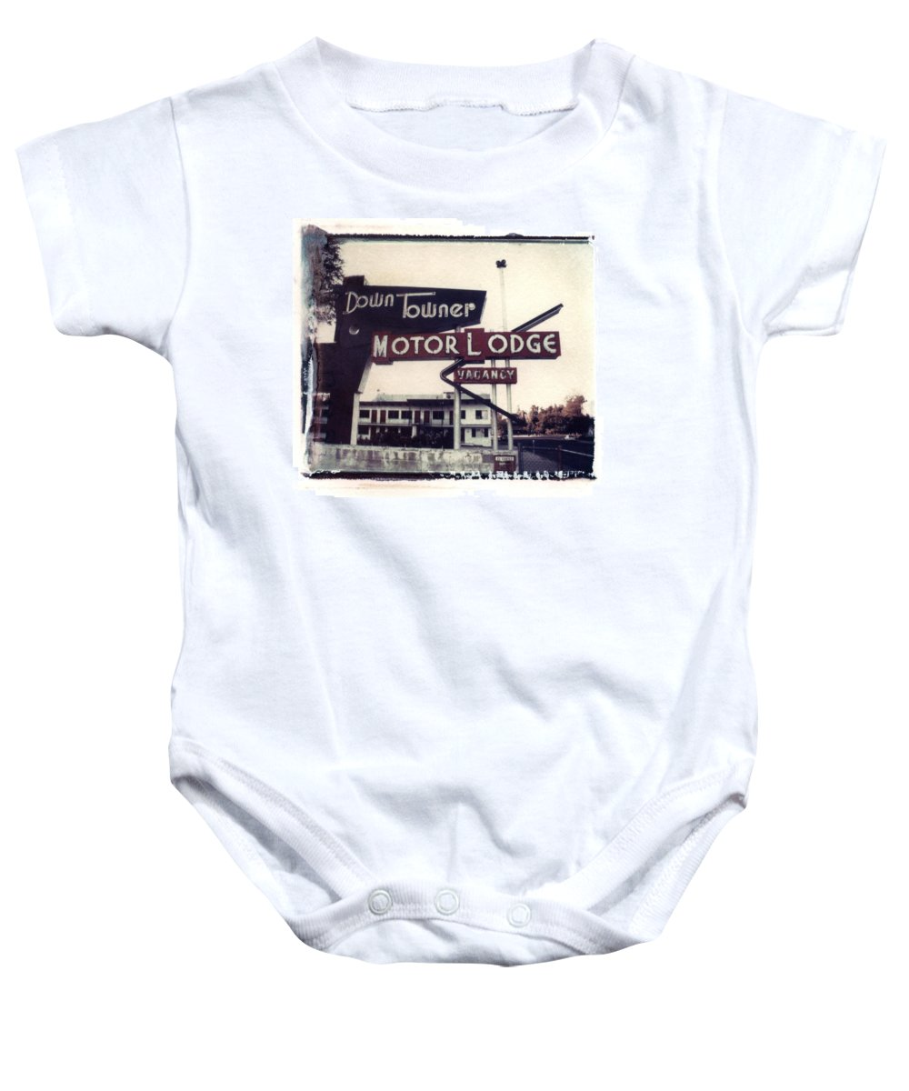 Landscape Baby Onesie featuring the photograph Down Towner by Jane Linders
