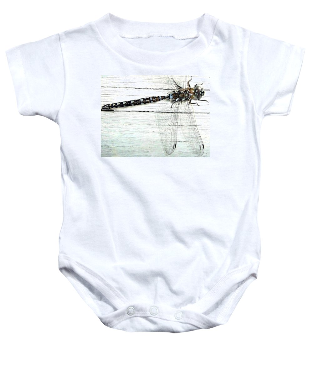 Insect Baby Onesie featuring the photograph Dragonfly by Will Borden
