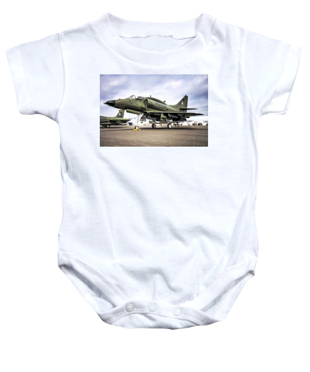 Jet Baby Onesie featuring the photograph Douglas A-4m Skyhawk II by Michael White