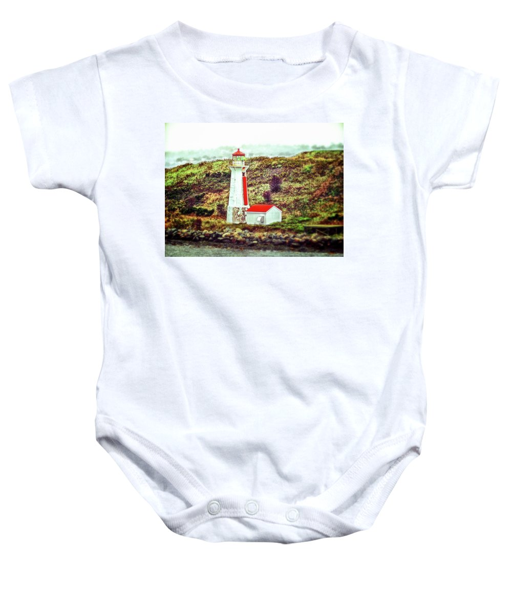 Halifax Lighthouse Baby Onesie featuring the photograph Dreaming Of The Georges Island Light In Halifax by Bill Swartwout Fine Art Photography