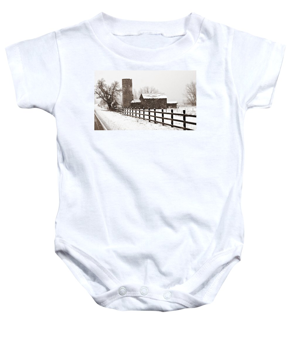 Americana Baby Onesie featuring the photograph Driving Down Cherryvale by Marilyn Hunt