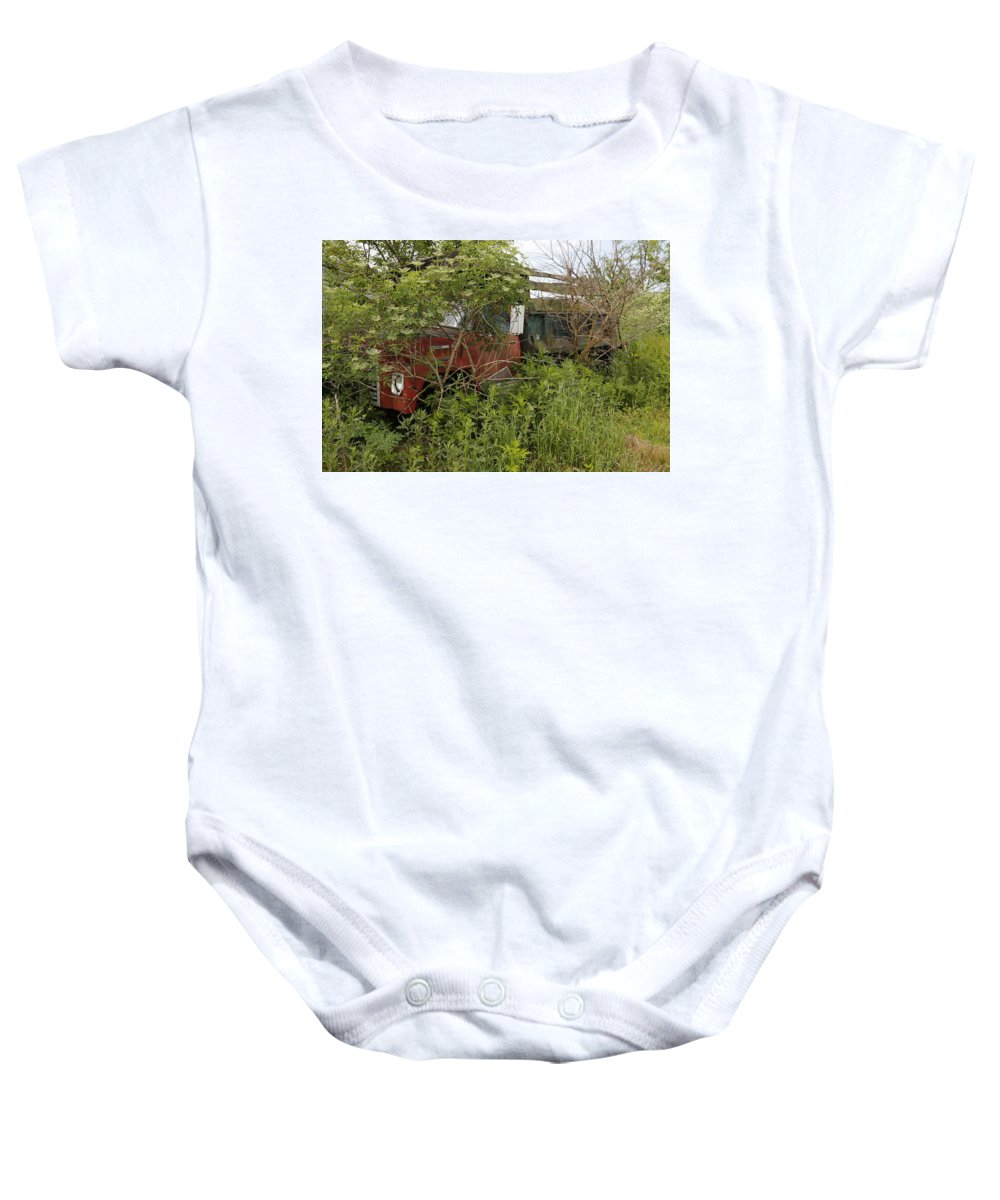 Digital Baby Onesie featuring the photograph Dumped by Jeff Roney