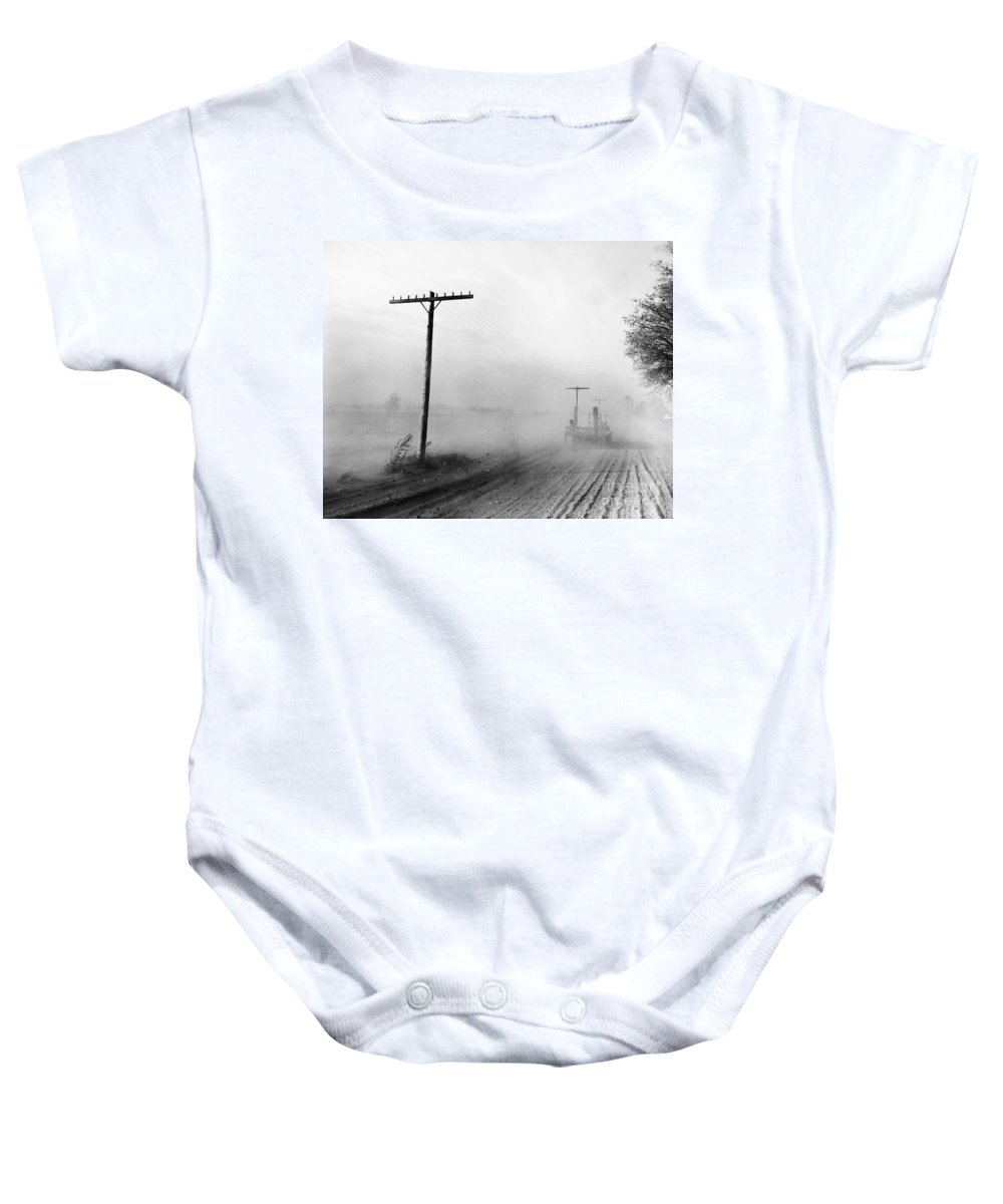 1936 Baby Onesie featuring the photograph Dust Bowl, C1936 by Granger