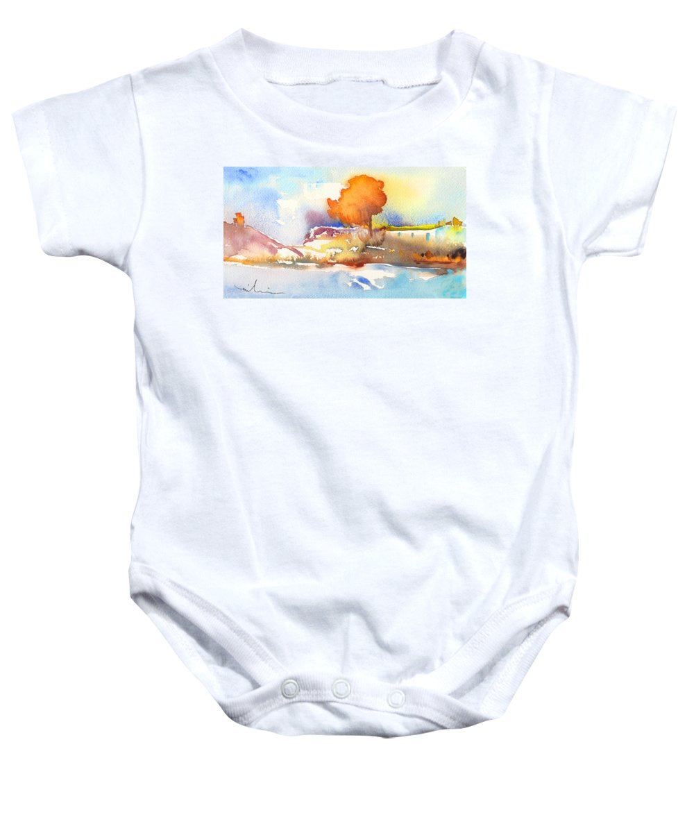 Landscapes Baby Onesie featuring the painting Early Morning 24 by Miki De Goodaboom
