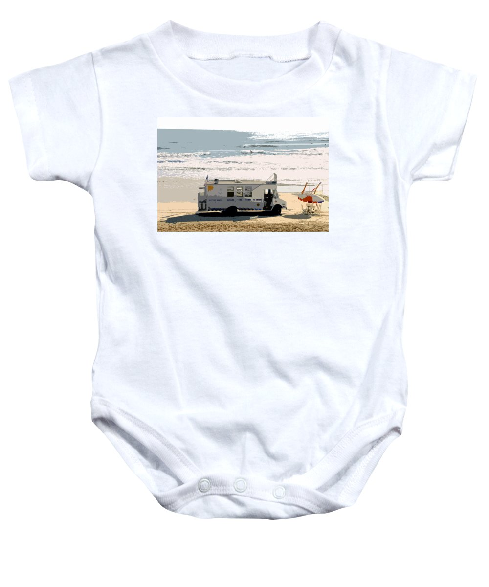 Surfing Baby Onesie featuring the painting Early Morning Surf by David Lee Thompson