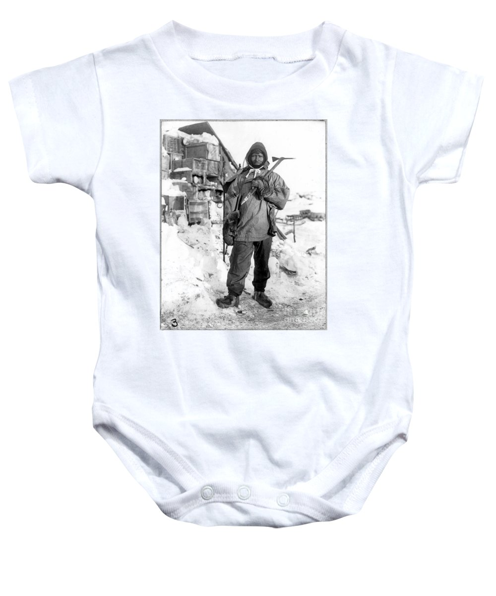 1910 Baby Onesie featuring the painting Edgar Evans (1876-1912) by Granger
