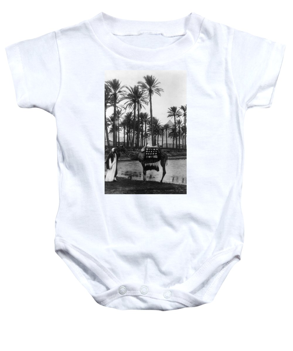 20th Century Baby Onesie featuring the photograph Egypt: Village by Granger