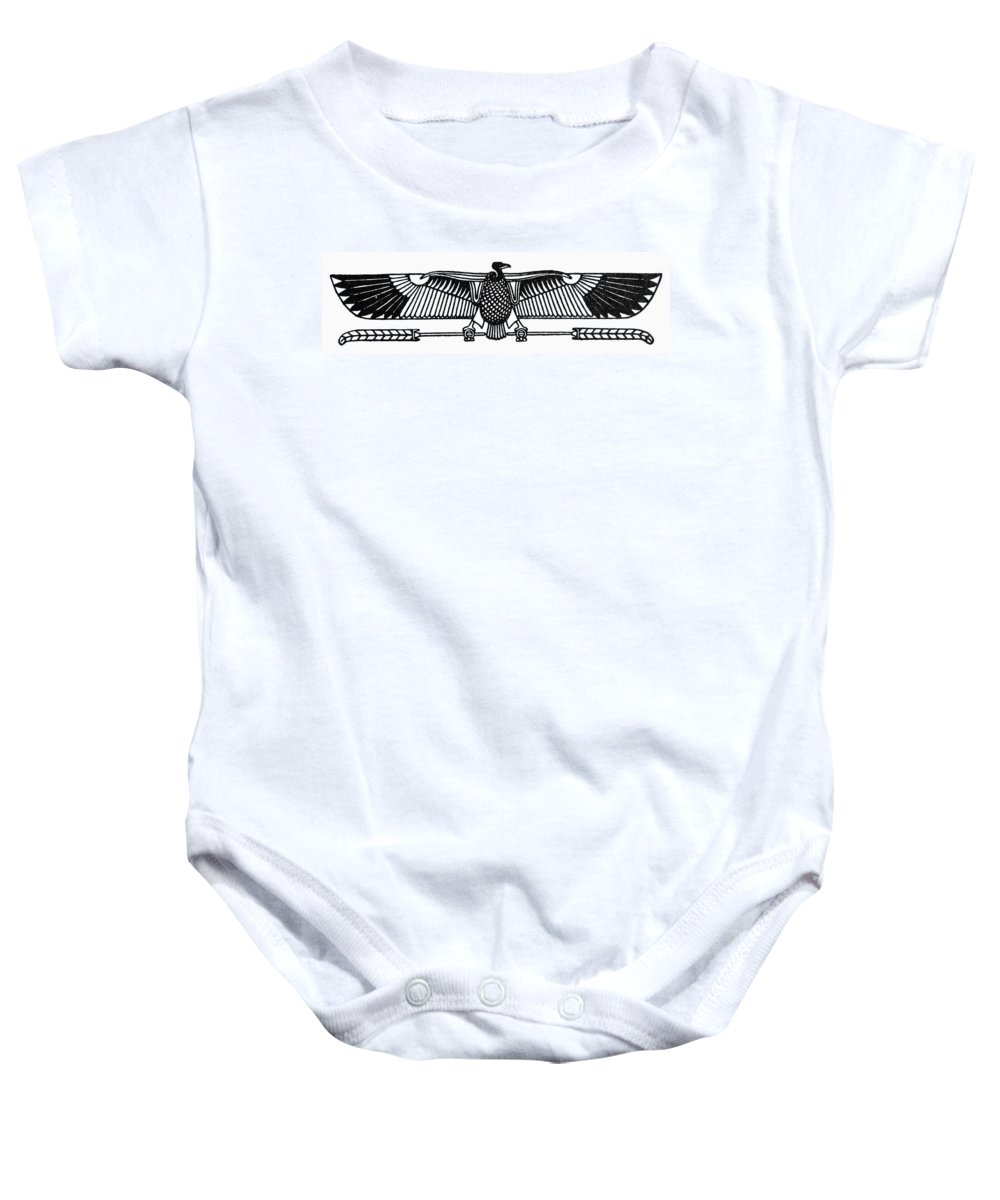 African Baby Onesie featuring the photograph Egyptian Symbol: Vulture by Granger