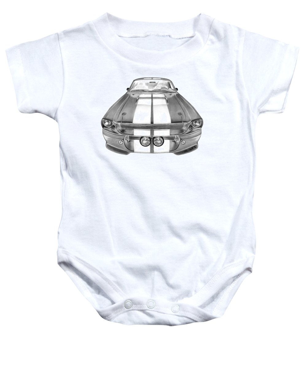 Eleanor Inverted Baby Onesie featuring the drawing Eleanor Inverted by Peter Piatt