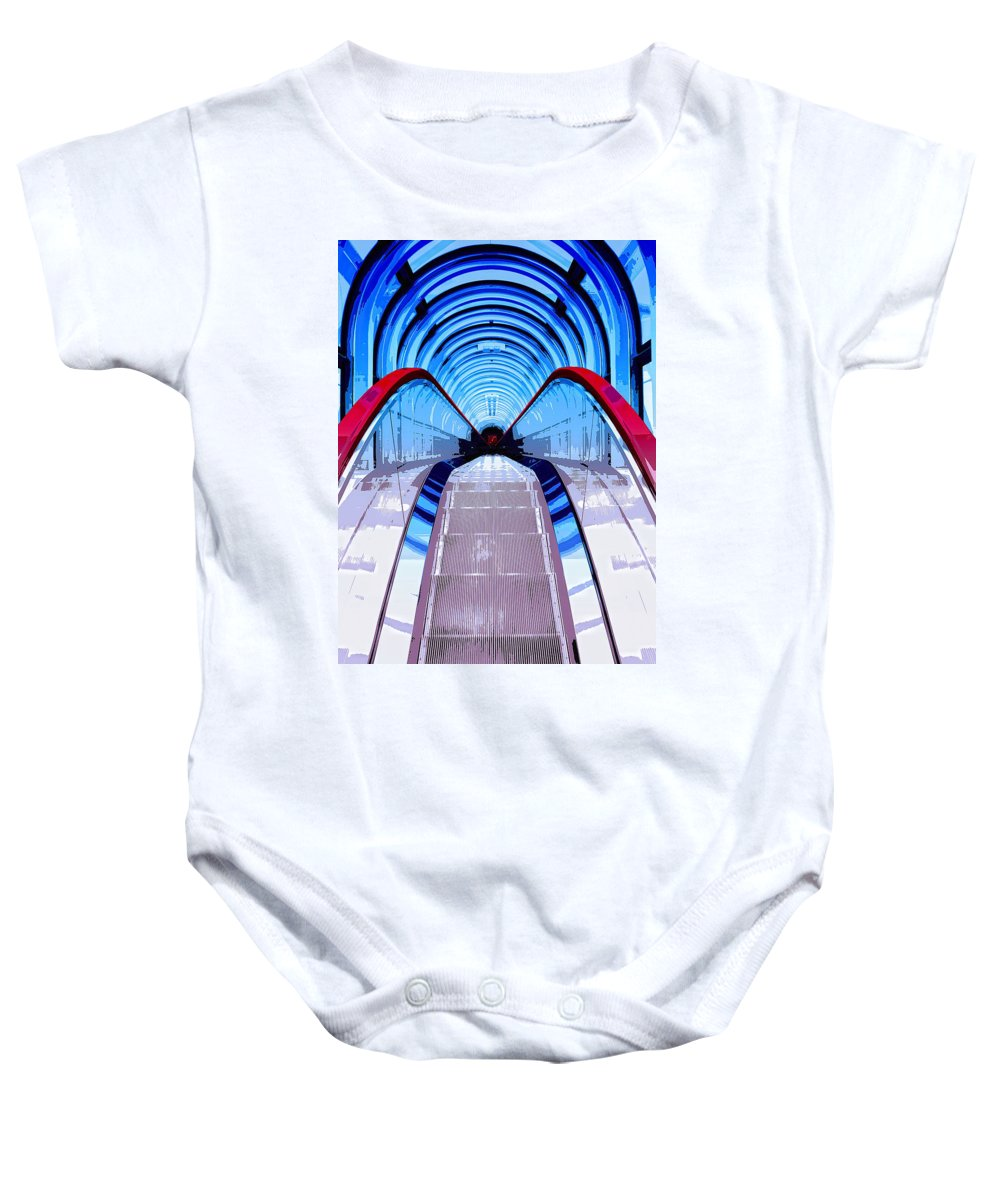 Elevation Baby Onesie featuring the mixed media Elevation by Dominic Piperata