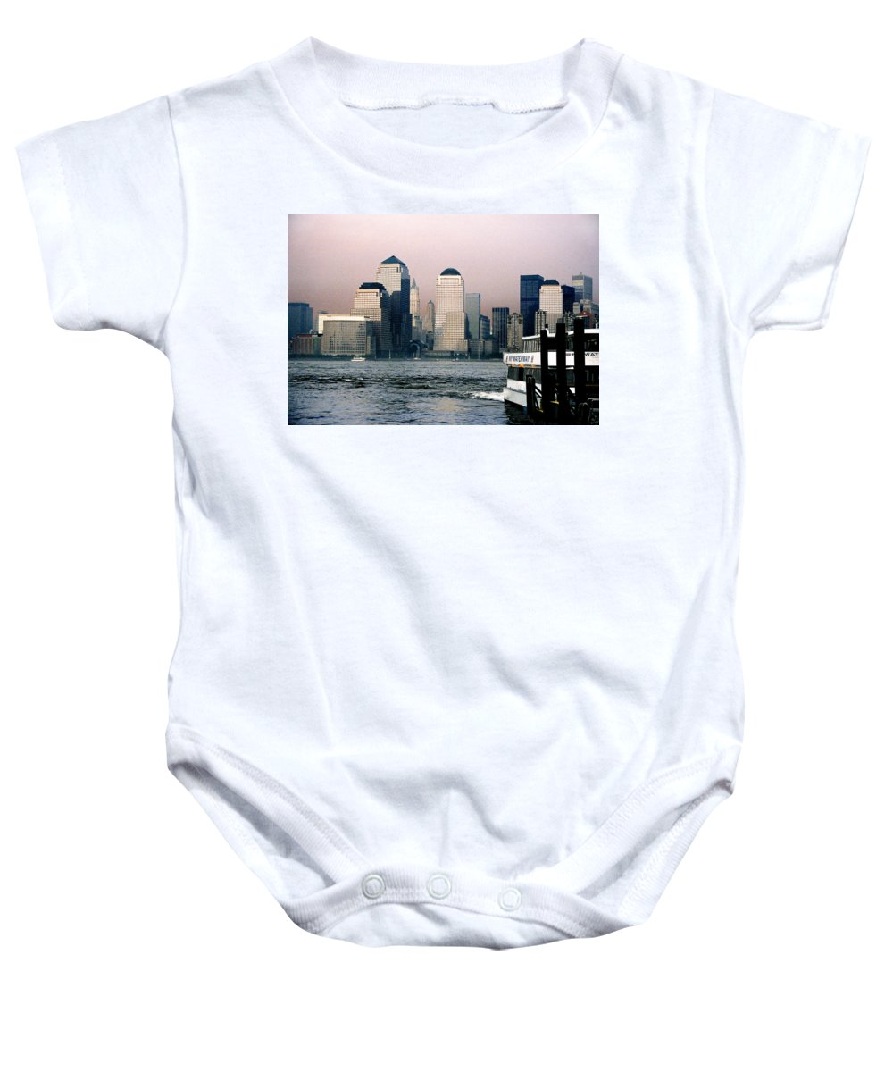 New York Baby Onesie featuring the photograph Empty Sky by Steve Karol