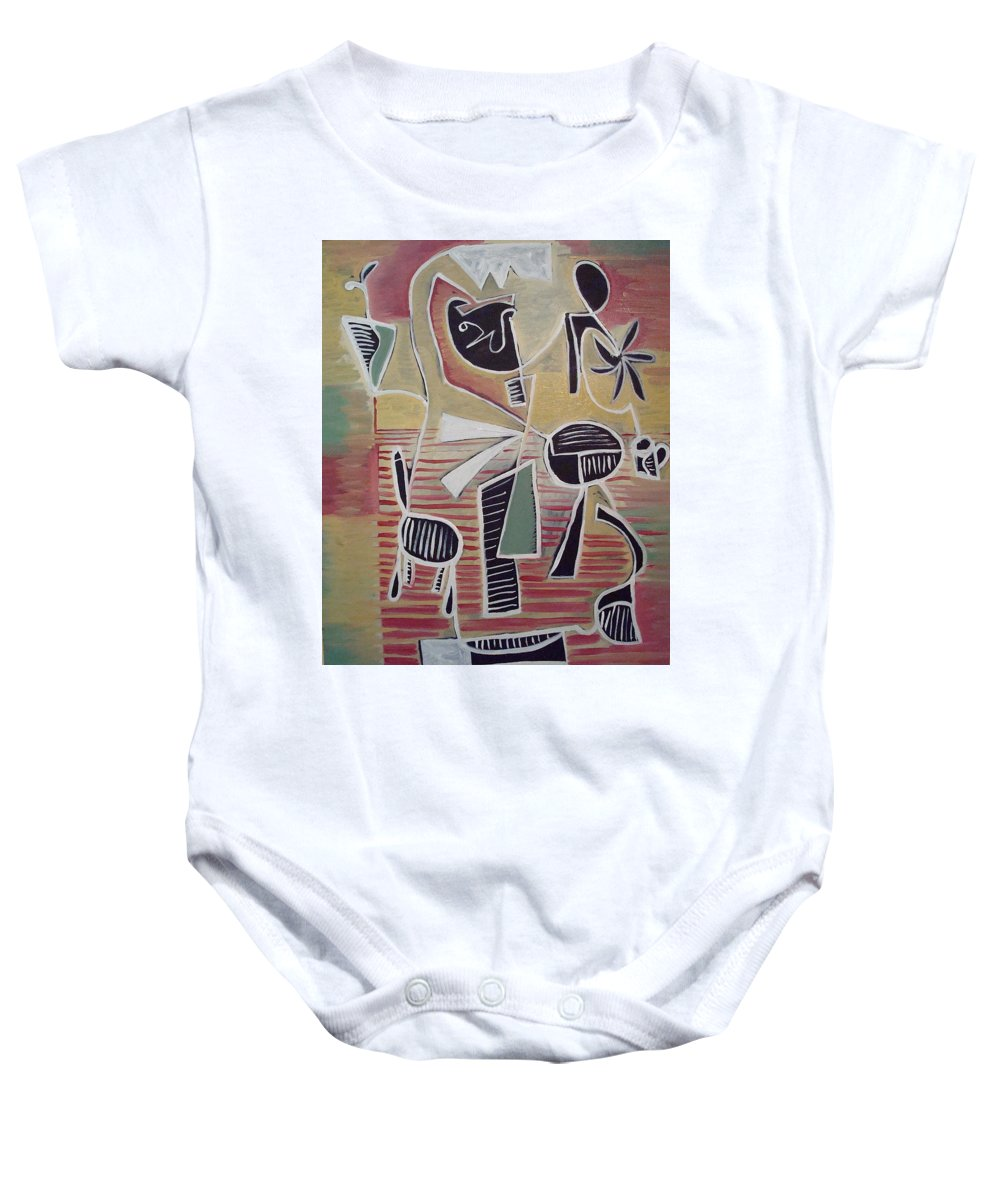 Abstract Baby Onesie featuring the painting End Cup by W Todd Durrance