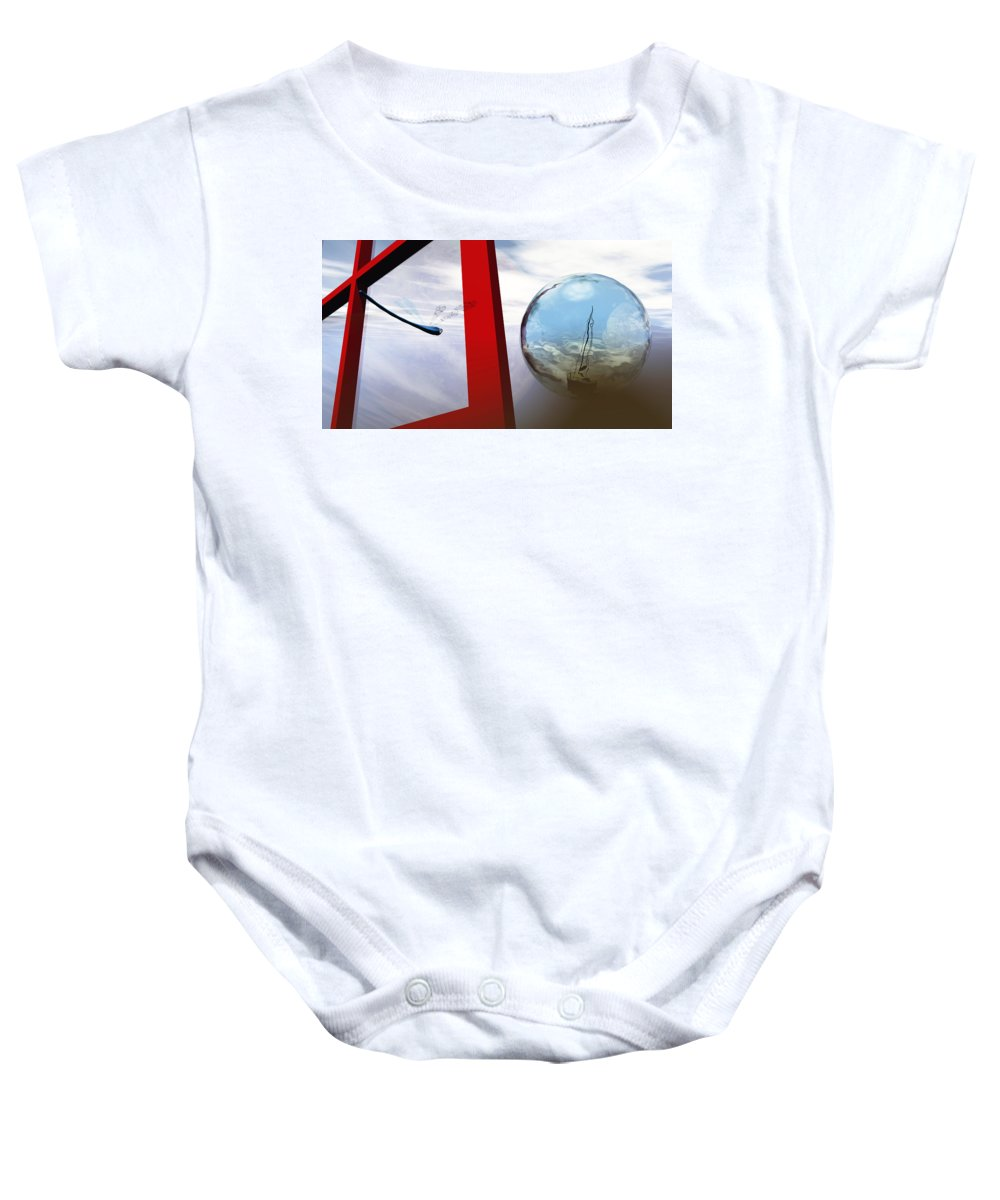 Surreal Baby Onesie featuring the digital art Endless Voyage by Richard Rizzo