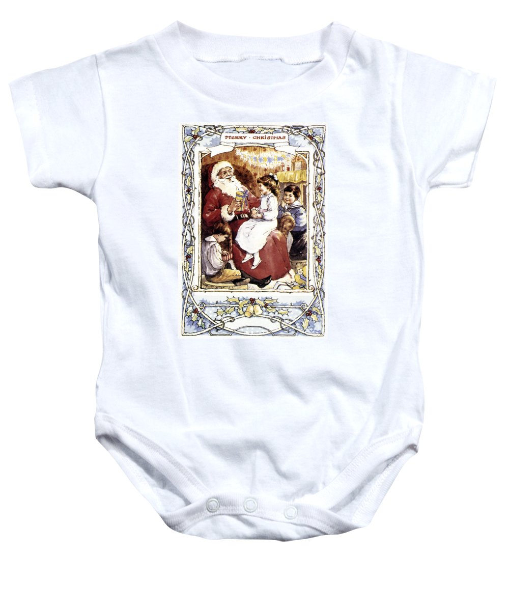 19th Century Baby Onesie featuring the photograph English Christmas Card by Granger