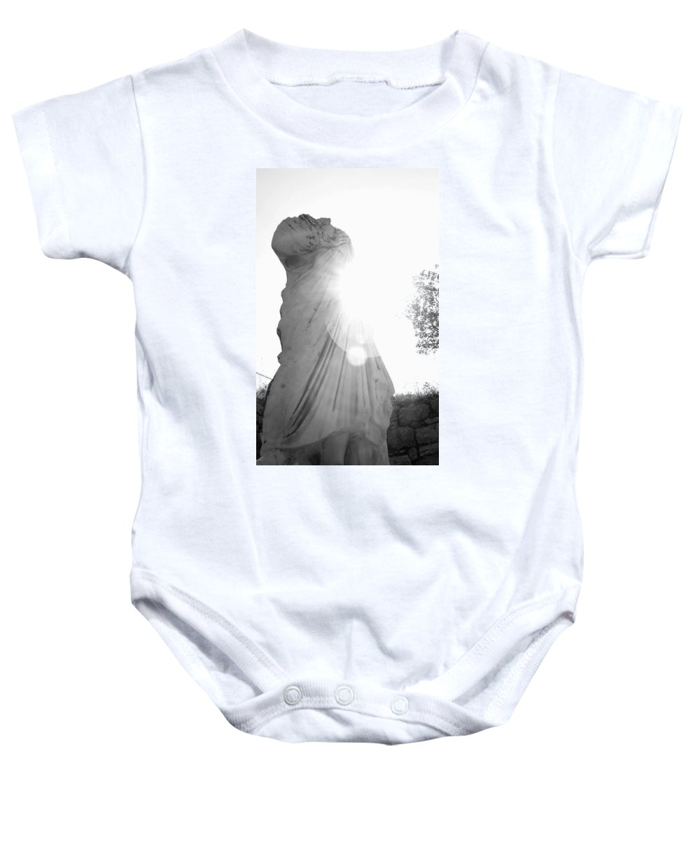 Statue Baby Onesie featuring the photograph Ephesian Statue by Jennifer Kelly