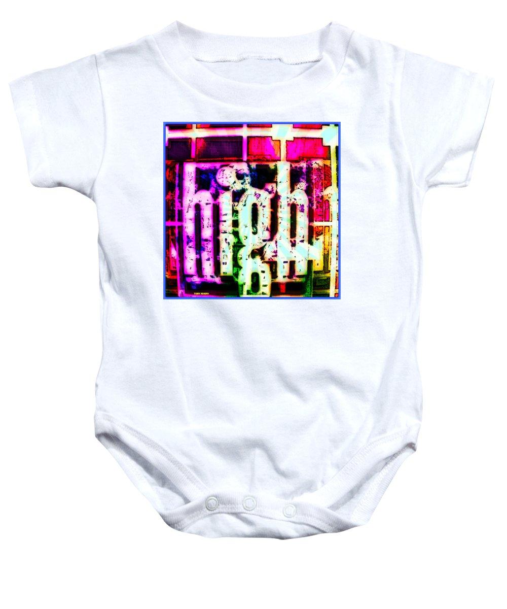Eric Dolphy On A Jazz High Baby Onesie featuring the digital art Eric Dolphy On A Jazz High by Tony Adamo