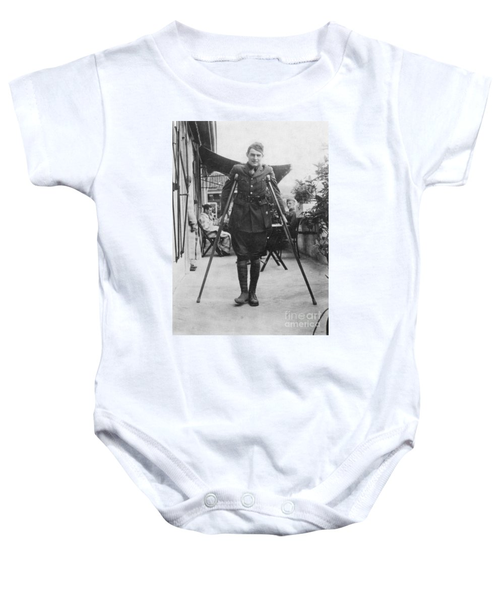 1918 Baby Onesie featuring the photograph Ernest Hemingway by Granger