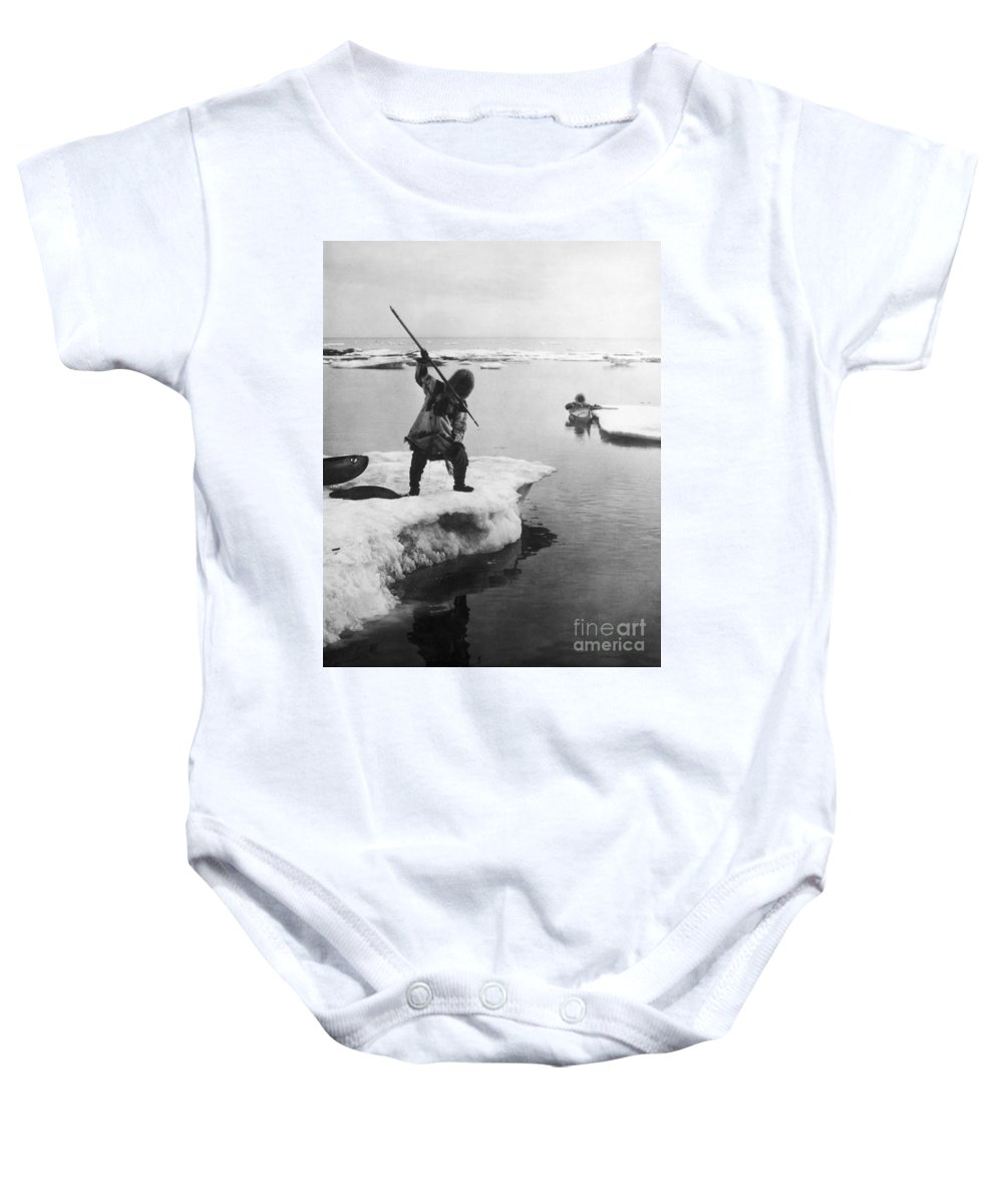 19th Century Baby Onesie featuring the photograph Eskimo Fishermen by Granger