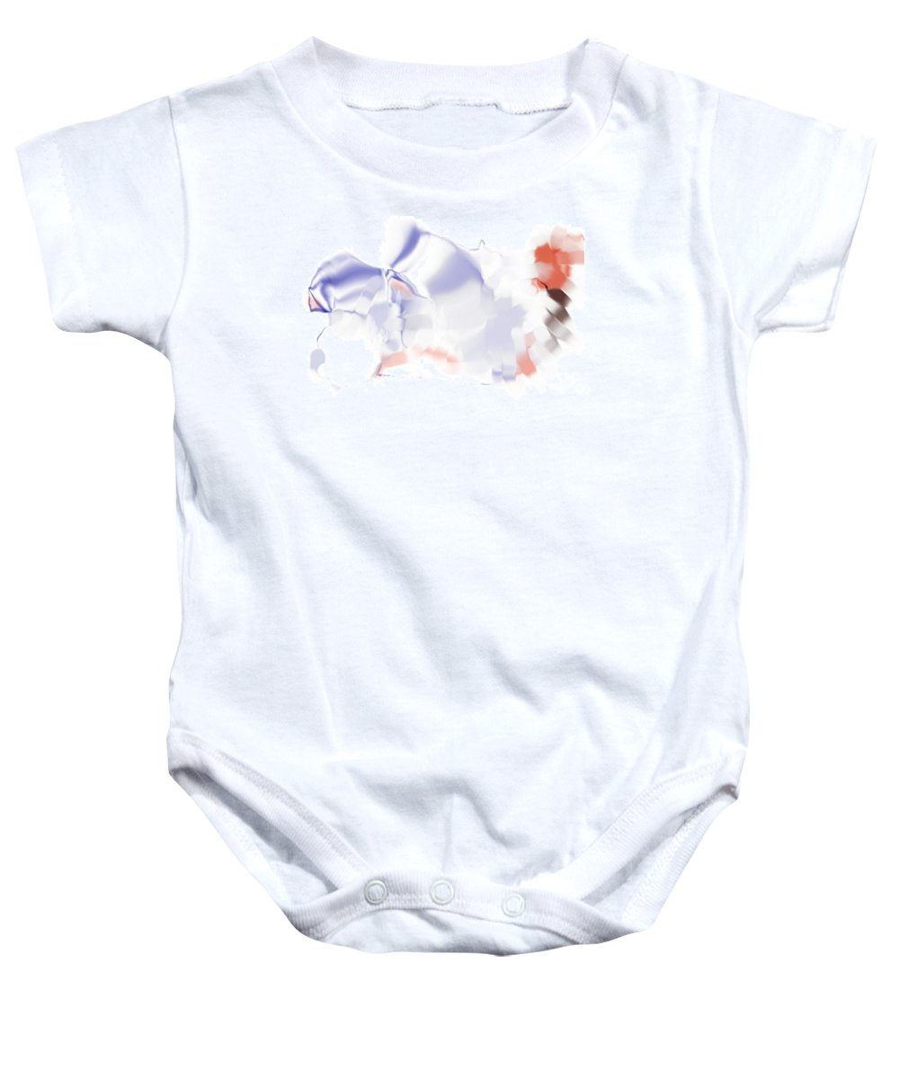 Ethereal Baby Onesie featuring the digital art Ethereal by Ron Bissett