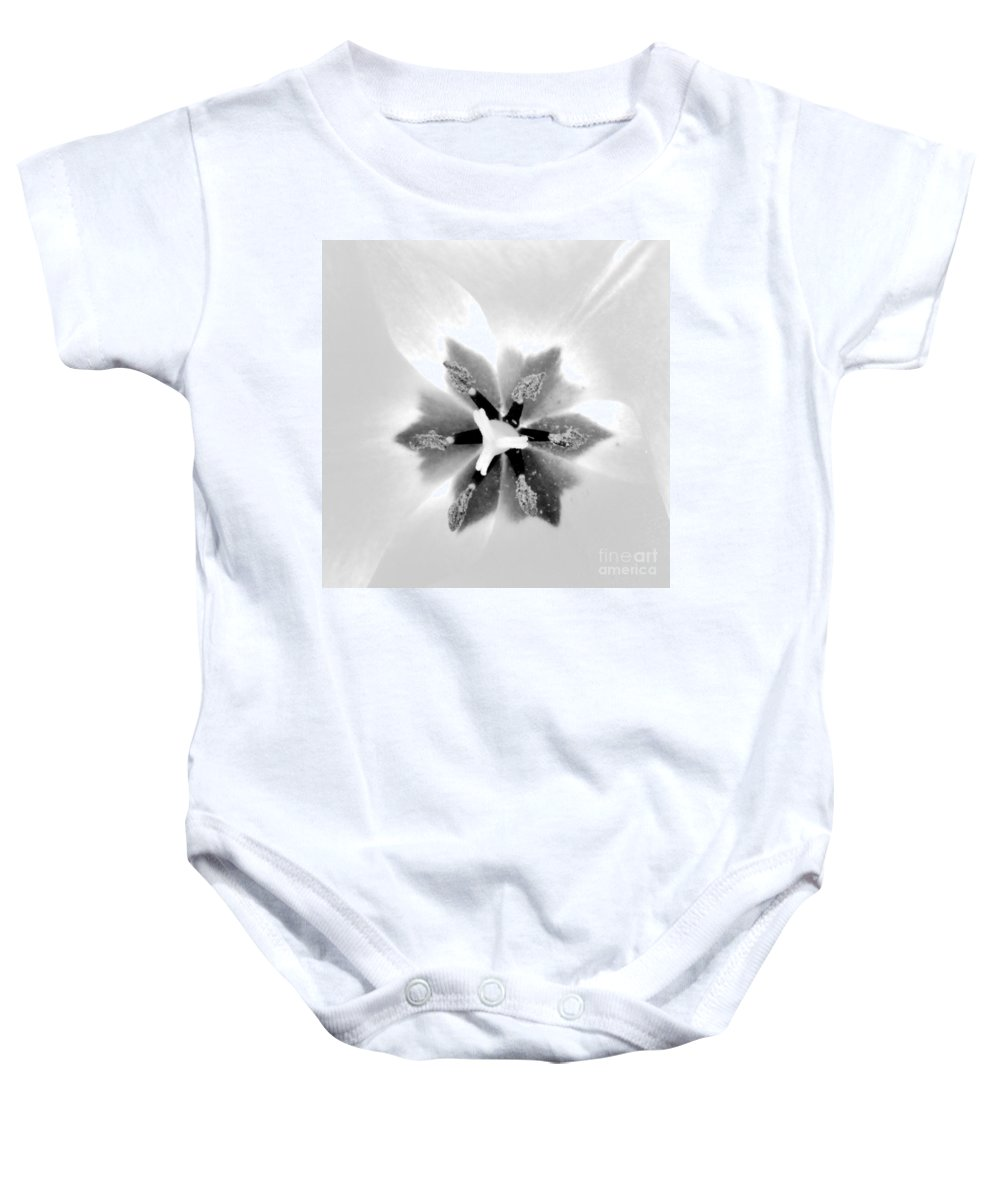 Flower Baby Onesie featuring the photograph Etoile A Six Branches by Morgan Veissiere
