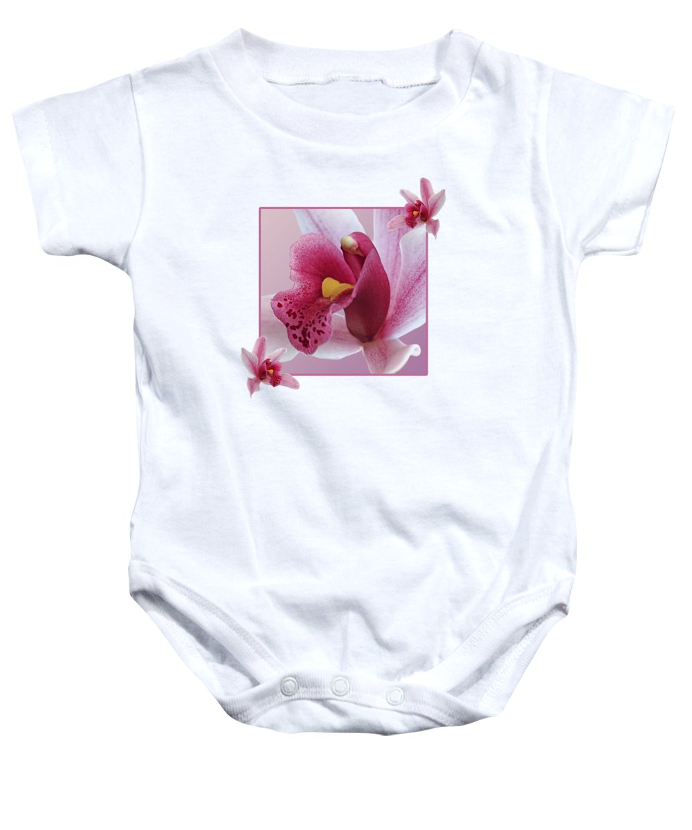 Orchid Baby Onesie featuring the photograph Exotic Temptation by Gill Billington