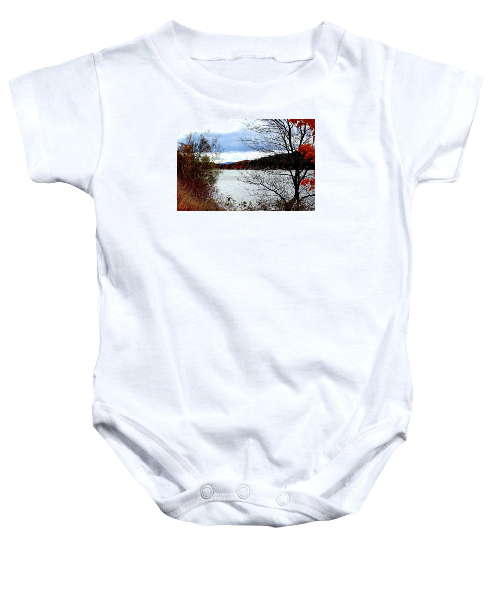 Newfound Baby Onesie featuring the photograph Fall 2015 Newfound Lake 1 by Wayne Toutaint