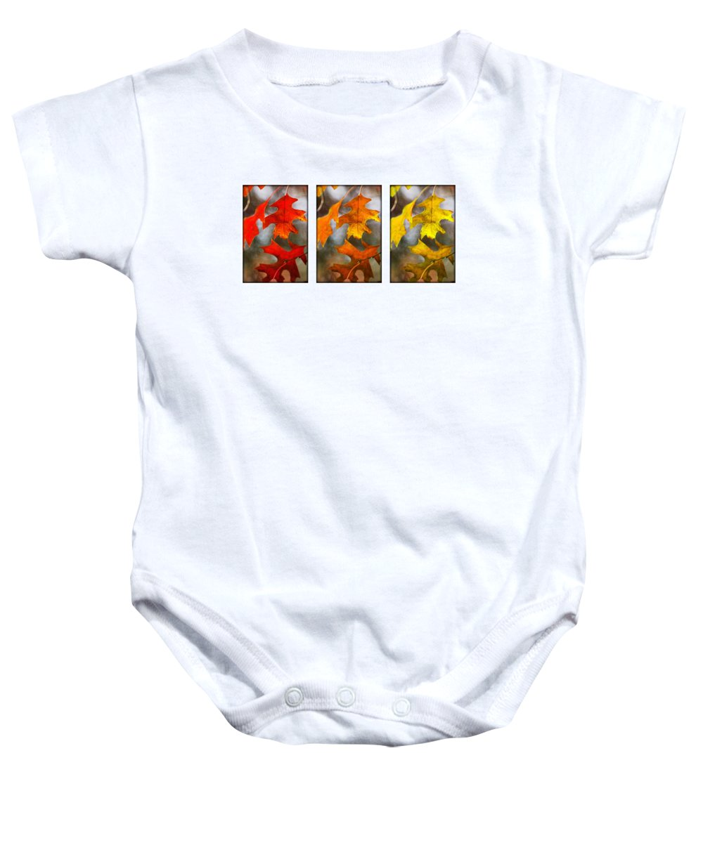 Leaves Baby Onesie featuring the photograph Fall Leaves by Jill Reger