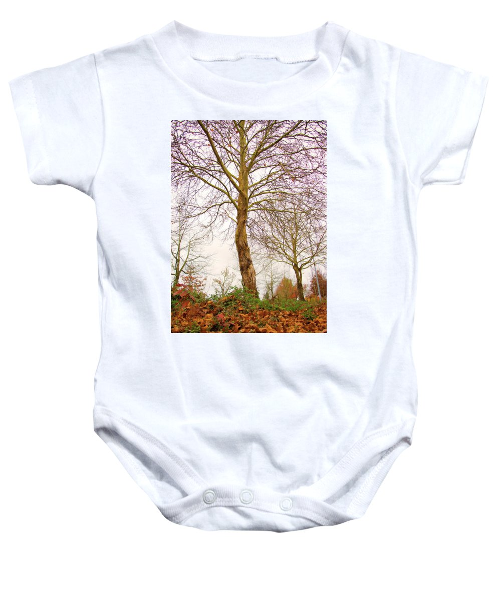 Fall Season Baby Onesie featuring the photograph Fall Season At Its Best by Seb Estrada