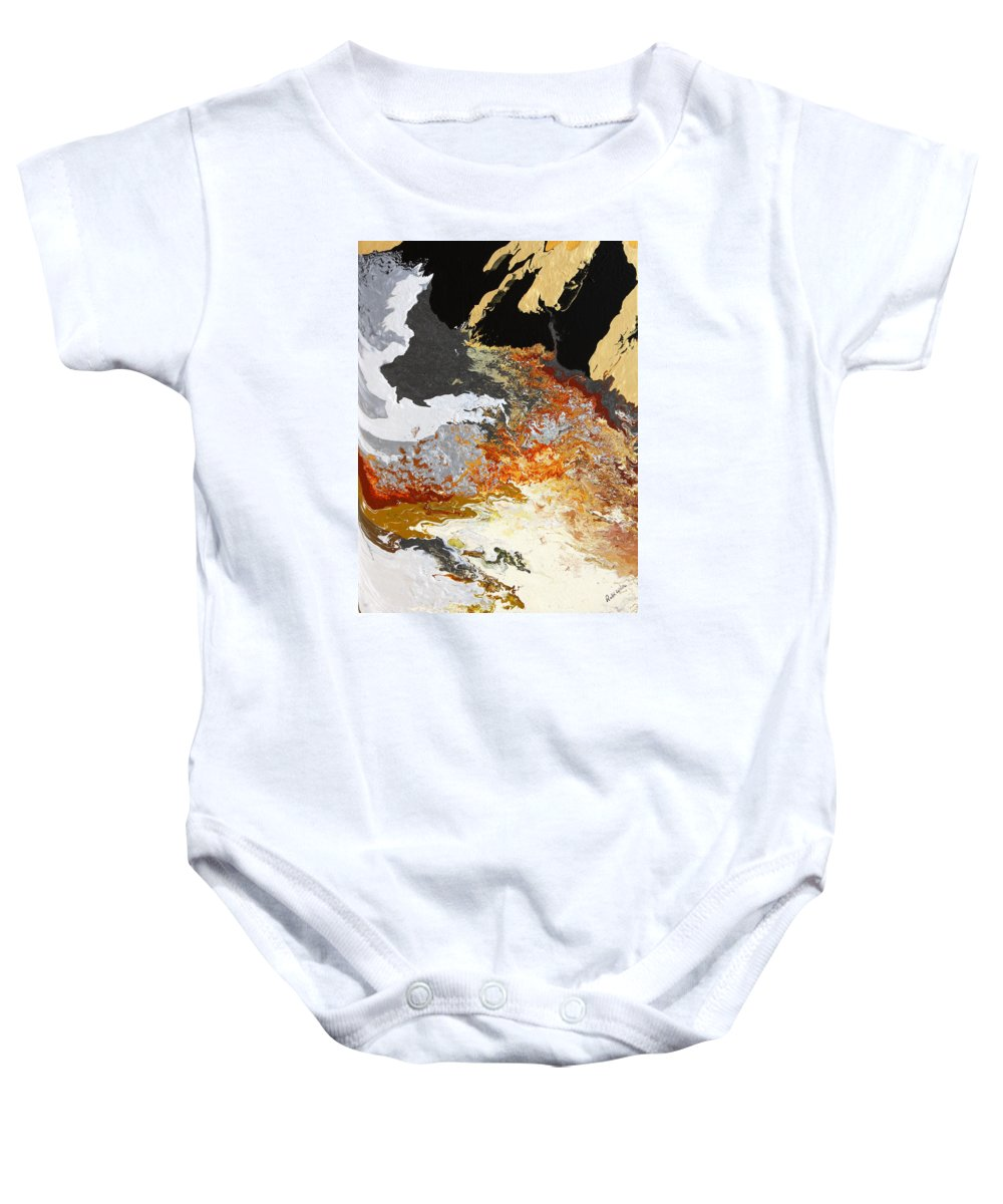 Fusionart Baby Onesie featuring the painting Fathom by Ralph White
