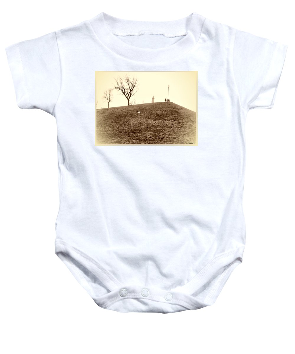 2d Baby Onesie featuring the photograph Federal Hill by Brian Wallace