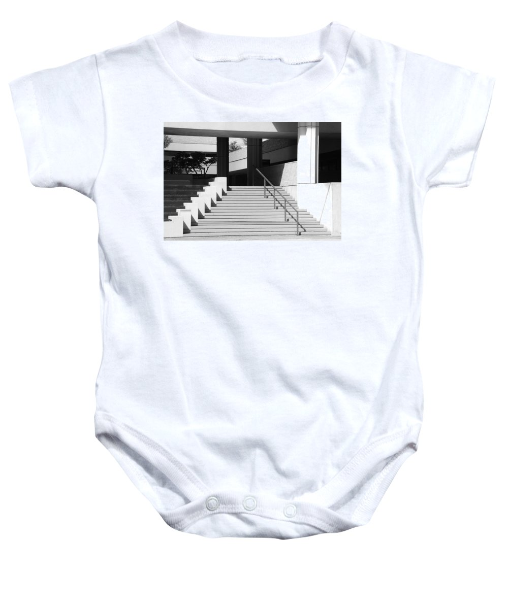 Architecture Baby Onesie featuring the photograph Federal Stairs by Rob Hans