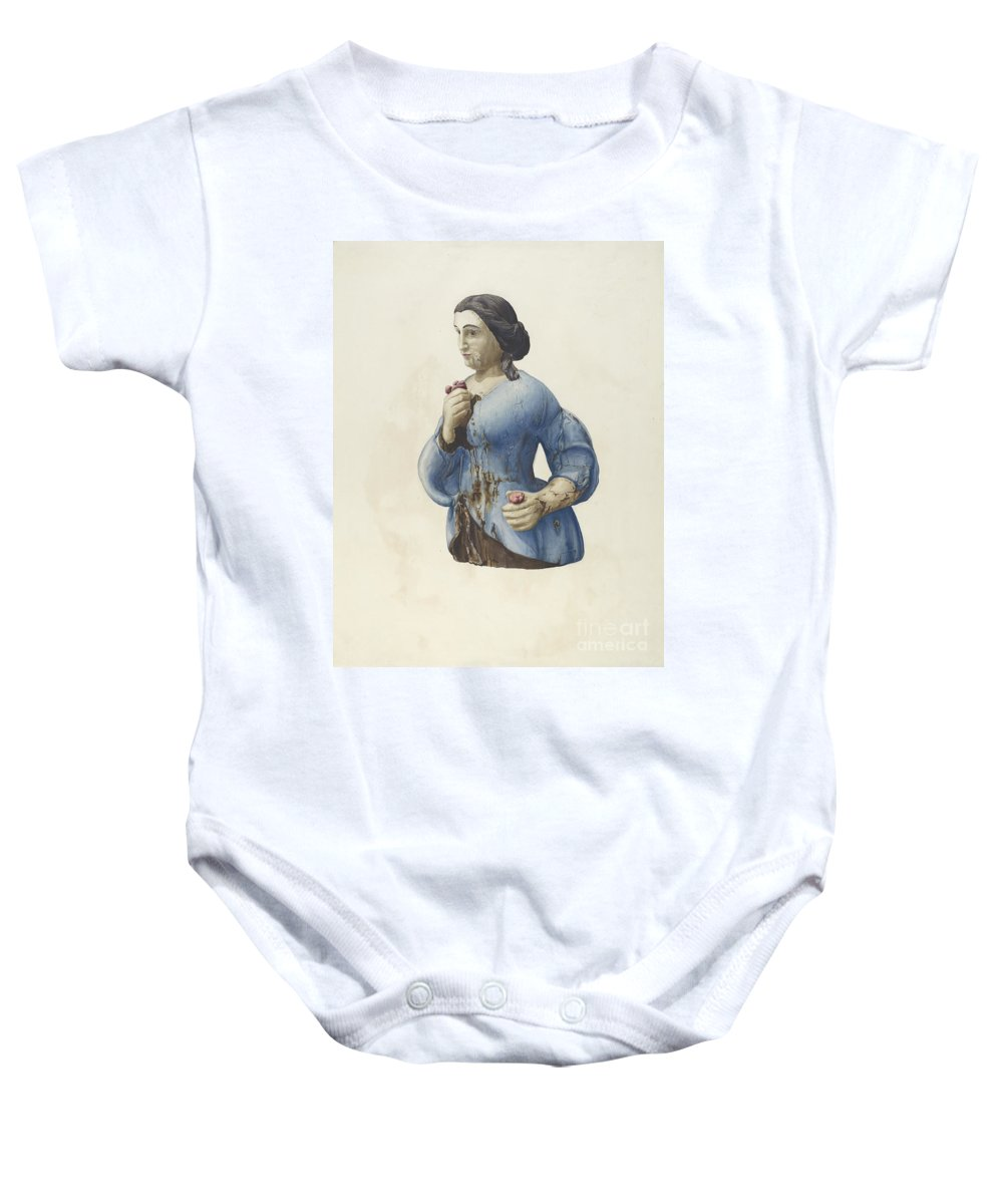 Baby Onesie featuring the drawing Figurehead by Rosamond P. Gray