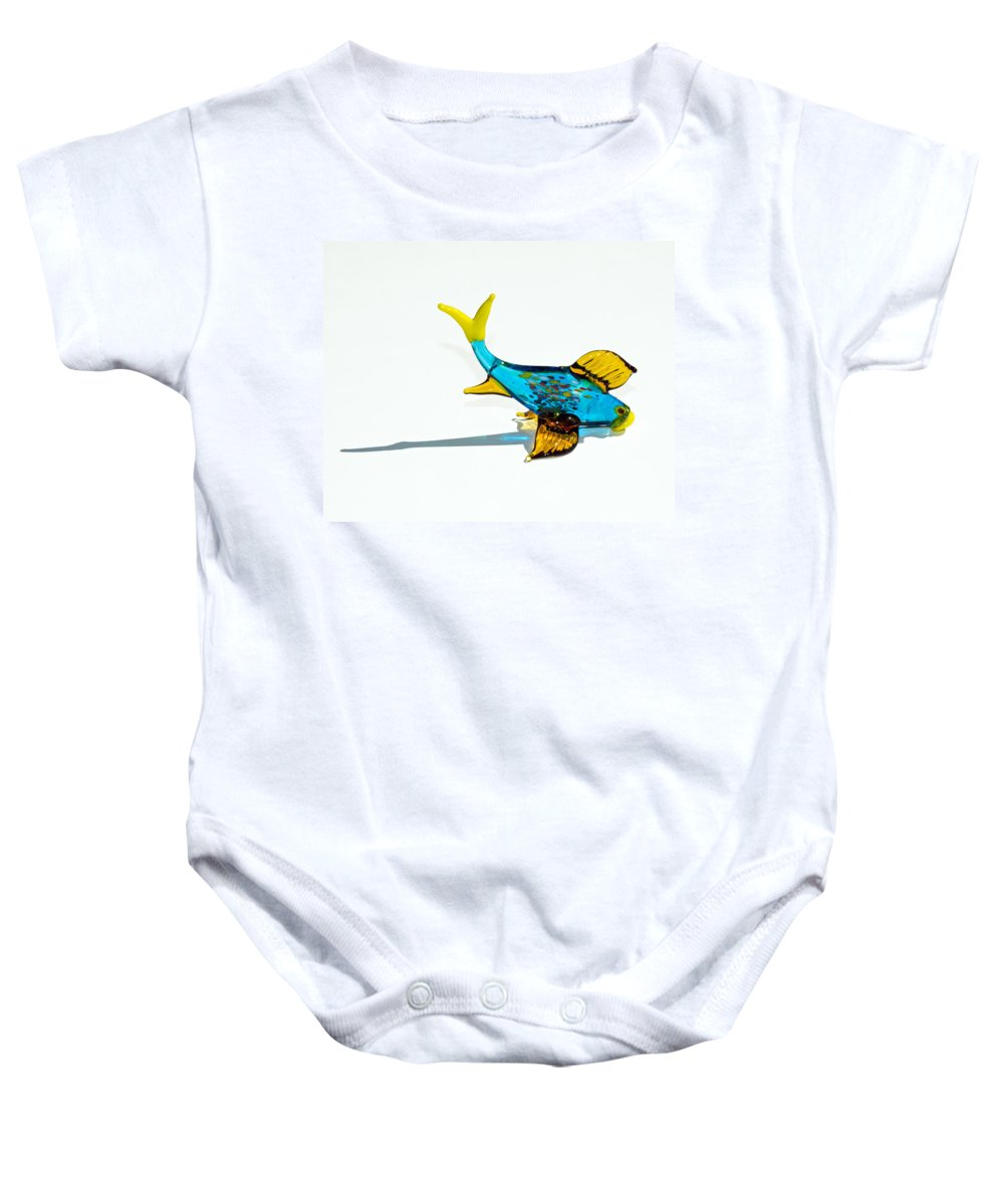 Tropic Baby Onesie featuring the photograph Fish Out Of Water by Allan Hughes