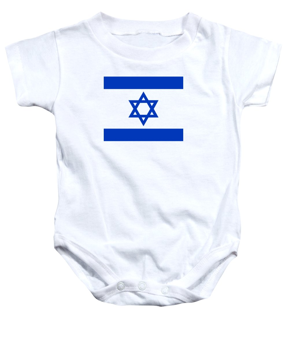 67613aacb Flag Of Israel Authentic Version Onesie for Sale by Bruce Stanfield