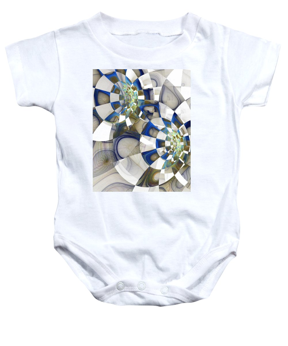 Digital Art Baby Onesie featuring the digital art Flight by Amanda Moore