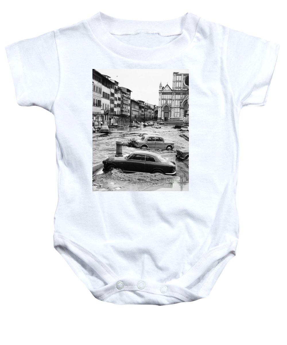 1966 Baby Onesie featuring the photograph Florence: Flood, 1966 by Granger